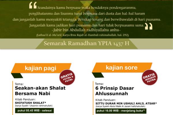 kajian ust Aris 6 Prinsip dasar ahlussunnah Ramadhan 1437