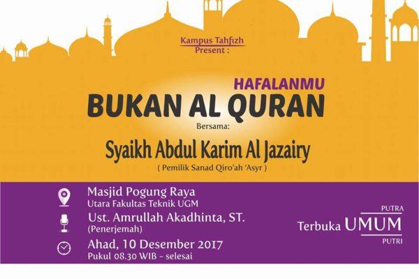 Kajian Tematik Kampus Tahfizh Yogyakarta