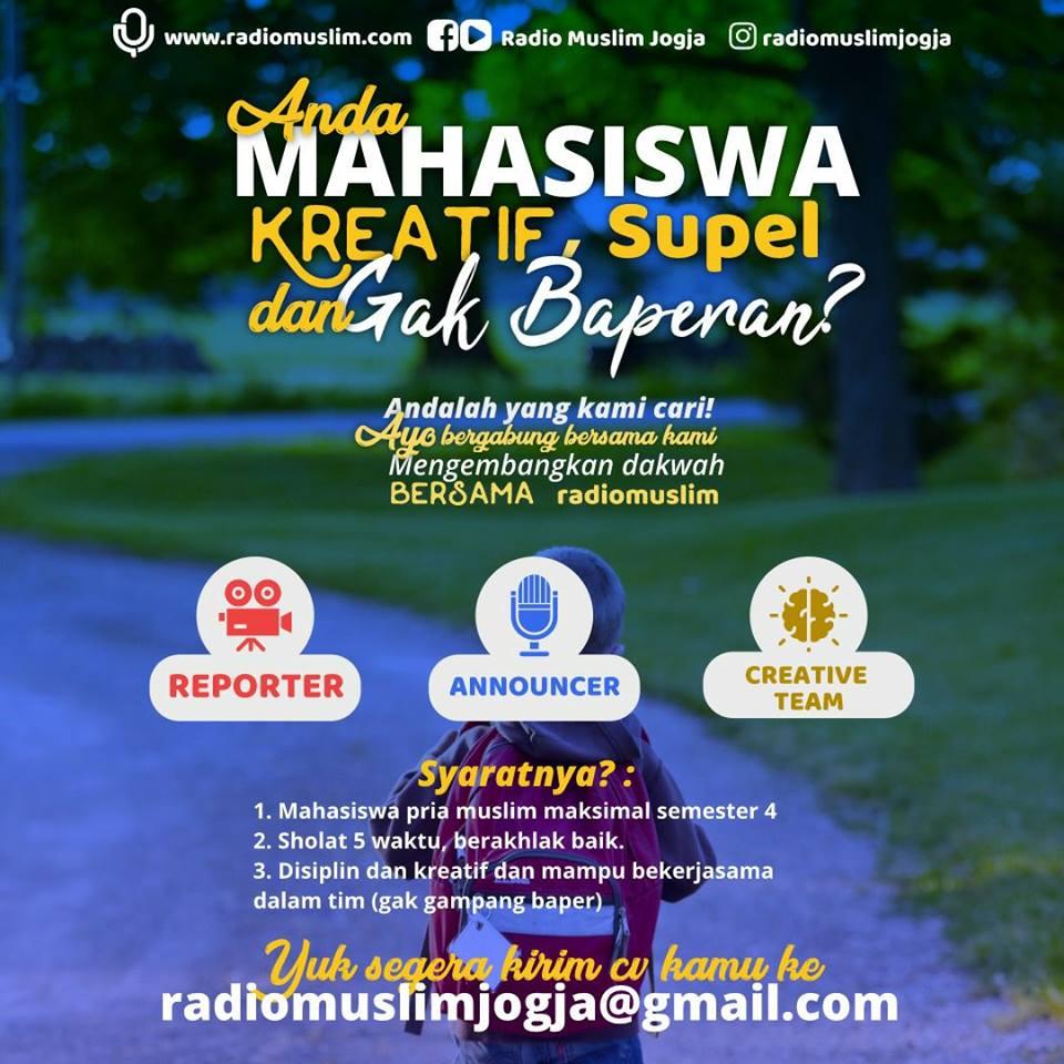 lowongan kerja radio muslim jogja