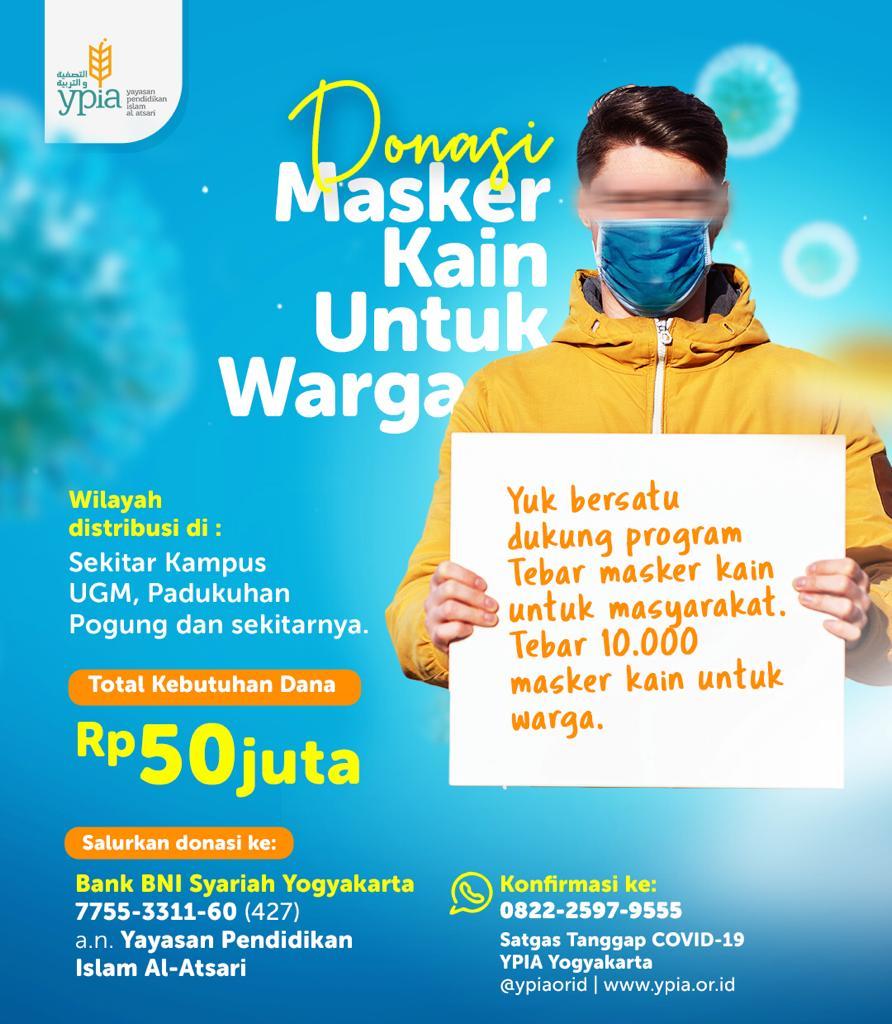 Jogja Donasi Masker Kain Untuk Warga Radio Muslim Jogja